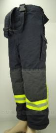 Brandweer Goretex broek - Donkerblauw met gele reflectie - gebruikt  - origineel