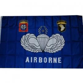 Airborne vlag blauw