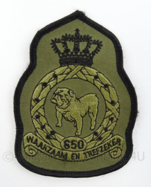 KLu Luchtmacht eenheid embleem 650e Squadron - met klittenband - afmeting 8 x 11,5 cm - origineel