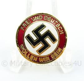 NSDAP speld Frei und Deutsch sollen wor Sein - met RZM stempel