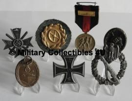 Medaille standaards - set van 5 (zonder medailles)