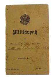 Duits WO1 Militärpaß soldatenpaspoort - origineel