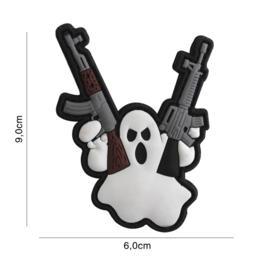 Embleem 3D PVC met klittenband - Terror Ghost - 9,0 x 6,0 cm