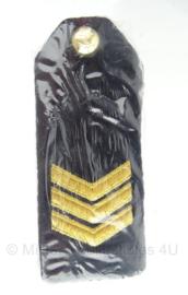 """KM Koninklijke Marine schouder epauletten """"Sergeant"""" met knoop - nieuw in verpakking - origineel"""