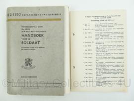 Handboek voor de soldaat - VS 2-1350 - uit 1961 - algemeen voor alle wapens en dienstvakken - origineel