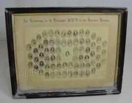 Portret foto overzicht in lijst - Garnison München 1878/79 - rariteit!