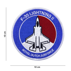 F-35 Lightning II Royal Dutch Airforce embleem - blauw