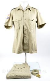 Kmar Marechaussee Sinaai missie tropen hemd met lange broek en broekriem - maat 39 - origineel