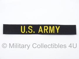 US Army branch tape/naamlint - Vietnam oorlog - zwart met goud - origineel