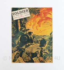 The British Army Magazine Soldier October 1954 -  Afkomstig uit de Nederlandse MVO bibliotheek - 30 x 22 cm - origineel