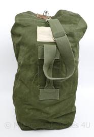 Nederlands leger MVO jaren 50 plunjezak groen canvas - zeer goede staat - 69 x 40 cm - origineel