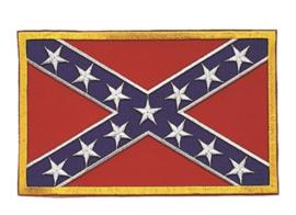 Uniform landsvlag stof - USA confederate army  - medium 8 x 5  cm.
