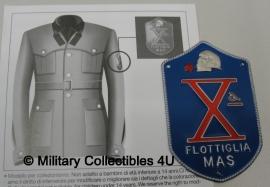 "italian navy Marine Infantry ""decima mas"" RSI badge Flottiglia MAS"