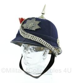 Helm muziekkorps van de gemeentepolitie Amstelveen jaren 60 ( 1 van de 28 stuks gemaakt)-  helm maat 58 - Origineel