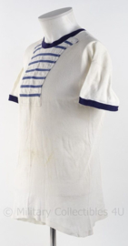 Koninklijke Marine antiek sportwitje met blauwe randen - gebruikt - maat 5 (L) - origineel