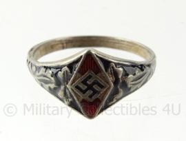 WO2 Duitse HJ Hitler Jugend ring - diameter 22 mm