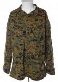 US Marine Corps Marpat jas - Digital Woodland - med/long - met insignes - origineel