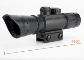 Kunststof scope 19 cm. met picatinny rail
