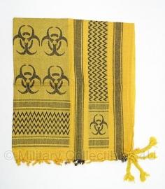 Shemagh Biohazard - geel met zwart