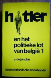 Boek A. De Jonghe - Hitler en het politieke lot van België