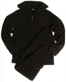 Thermo Fleece ondergoed - met kraag ZWART