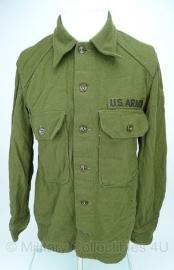 US Army M1951 - korea oorlog periode - blouse wol - met US Army op de borst -  origineel