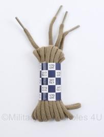Defensie originele khaki veters - 1 paar - 170 cm - origineel