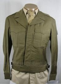 US WO2 Ike jacket met drukknopen - maat 38 Long - datum 02-06-1944 - origineel