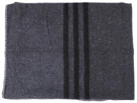 Nieuw gemaakte legerdeken - zwarte strepen - 200 x 150 cm.