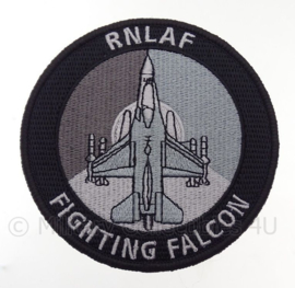 "KLu Koninklijke Luchtmacht RNLAF Royal Netherlands Air Force ""Fighting Falcon"" -  met klittenband - diameter 10 cm"