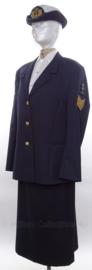 KM Koninklijke Marine DAMES uniform SET jasje, rok en hoed - met originele insignes - maat 40 - origineel