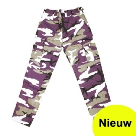 Broek purple urban camo - alleen nog XL of XXL