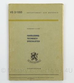 Handboek Technisch Specialisten nr. VS 2-1355 - 1966 - afmeting 15 x 22 cm - origineel