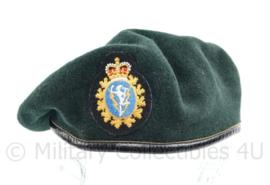 Canadese leger baret met insigne  donkergroen - maat 56 - origineel