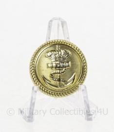 KM Koninklijke Marine knoop - goudkleurig - prijs per stuk - doorsnede 2 cm - origineel