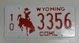 Orgineel Amerikaans nummerbord Wyoming