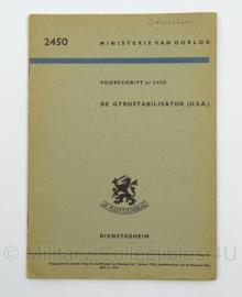 MVO Handboek de Gyrostabilisator USA nr. 2450 - 1953 - afmeting 15 x 22 cm - origineel