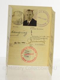 Naoorlogse pas voor reisverkeer met duitsland - jaren 50 - 9 x 15 cm - origineel