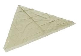 Khaki katoenen piramide tent Zeltbahn ( 4 zeilen) met stokken