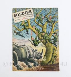The British Army Magazine Soldier May 1954 -  Afkomstig uit de Nederlandse MVO bibliotheek - 30 x 22 cm - origineel