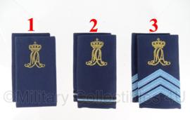 KLU Luchtmacht MA Militaire Academie schouderstukken gouden letters - verschillende rangen - origineel