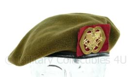 KL baret met insigne Intendance 1963-2000 -  maat 55  - origineel