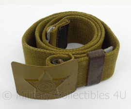 Russische koppel - groen webbing met groen  metalen slot - origineel