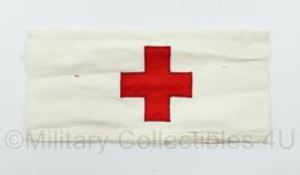 Vintage katoenen Rode kruis armband   - origineel