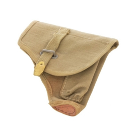 Vintage leger holster canvas - khaki - origineel