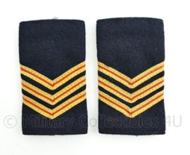 Nederlandse Brandweer donkerblauw stof epauletten - rang hoofdbrandwacht - paar - origineel