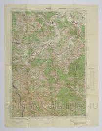Duitse stafkaart Jugoslawien Petrinja Blatt 41 Sonderausgabe Nur für den Dienstgebrauch Joegoslavie - 64,5 x 50 cm. schaal 1:100000 - origineel 1932