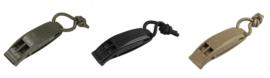 Tactical whistle - prijs per PAAR - groen, zwart of coyote