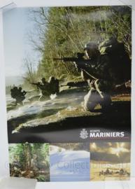 Poster van het Korps Mariniers - 59 x 42 cm - origineel