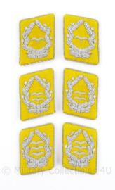 Luftwaffe kraagspiegels  Flieger (geel)  - Major tm. Oberst